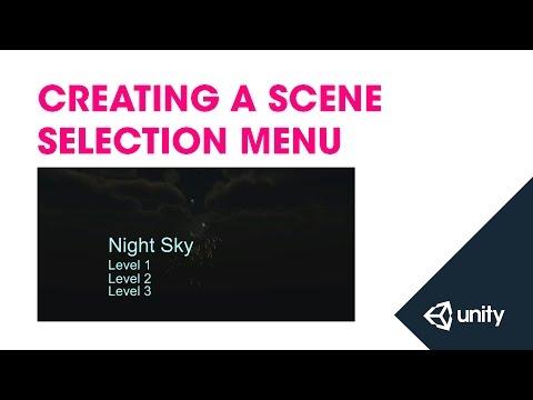 Creating a scene selection menu - Unity