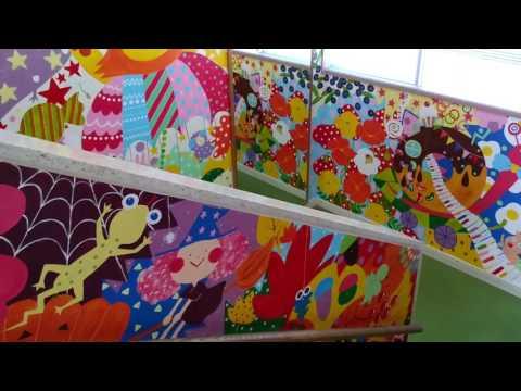 手賀の丘幼稚園・保育園 階段の絵画完成!