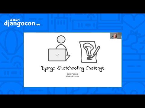 DjancoCon 2021 WorkShop | Django Sketchnoting Challenge | Sara Peeters thumbnail