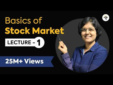 Basics of Stock Market For Beginners  Lecture 1 By CA Rachana Phadke Ranade
