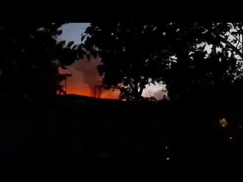 В Ташкенте сгорело кафе в Чиланзарском районе