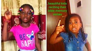Beautiful Kids Reciting Their Bible Memory Verses