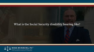 Video thumbnail: What is the Social Security hearing like?