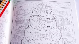 Adult Coloring Book Siamese Cat