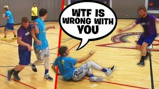 Trash Talker Gets MAD & THROWS Me Down, I EXPOSE Him & Score 30 PTS (Playoffs)