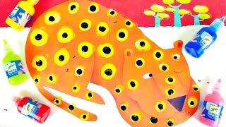Пальчиковые краски Джеко Djeco - Учимся рисовать леопарда. Развивалки для детей