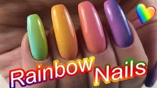 Rainbow OMBRE NAILS / Easy rainbow nails