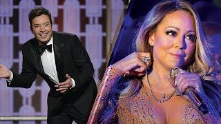 Shade Alert Jimmy Fallon SLAMS Mariah Carey At 2017 Golden Globes Over New Years Eve Performance