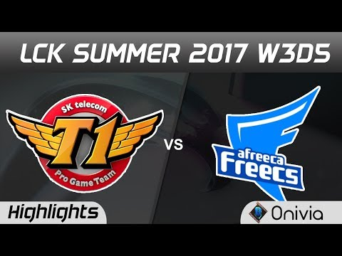SKT vs AFS Highlights Game 1 LCK SUMMER 2017 SK Telecom vs Afreeca Freecs By Onivia