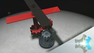 Two Coaxial Propellers - Using Only One Motor - 3D Animation Concept