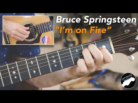 Watch Bruce Springsteen Im on Fire Full Acoustic Guitar Lesson on YouTube