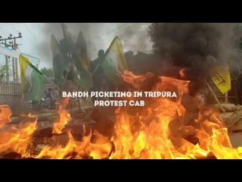 STRIKE BONDH IN TRIPURA II PROTEST CAB II
