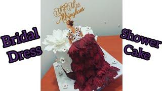 Bridal Shower Dress Cake | Bridal Shower Cake | Bachelorette Cake |Bridal Shower Torte |