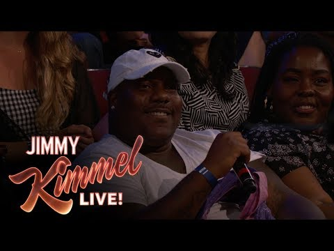 Behind the Scenes with Jimmy Kimmel and Audience (Guy with Toothache Fleeing Hurricane)