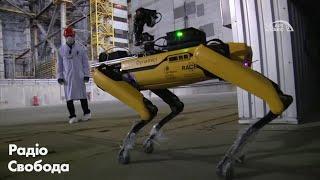 """Pies-robot """"SPOT"""" Boston Dynamics w Czarnobylu-nagranie w j.rosyjskim"""