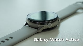 Смарт-часы Samsung Galaxy Watch Active Silver (SM-R500NZSA) от компании Cthp - видео 3