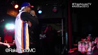 The GOD M.C. Rakim perform's Microphone Fiend during All Star 2013 in Houston!!