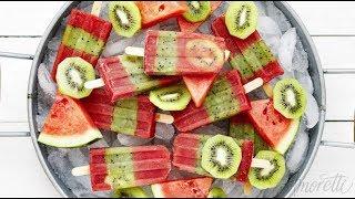 How To Make Watermelon Kiwi Popsicles | Fruit Popsicle Recipe