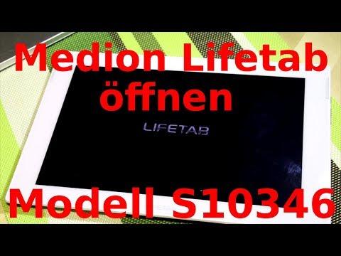Öffnen eines Medion Lifetab Modell S10346 (und ähnliche Modelle) und Ausbau der Platine