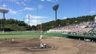 高校野球広島県大会決勝広島新庄高校ホームスチール