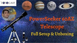 Celestron PowerSeeker 60AZ Refractor Telescope Hindi Review # Celestron 21041 60mm Telescope