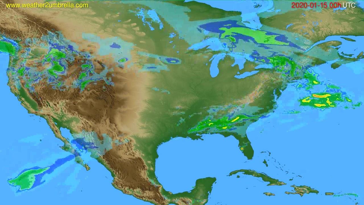 Radar forecast USA & Canada // modelrun: 12h UTC 2020-01-14