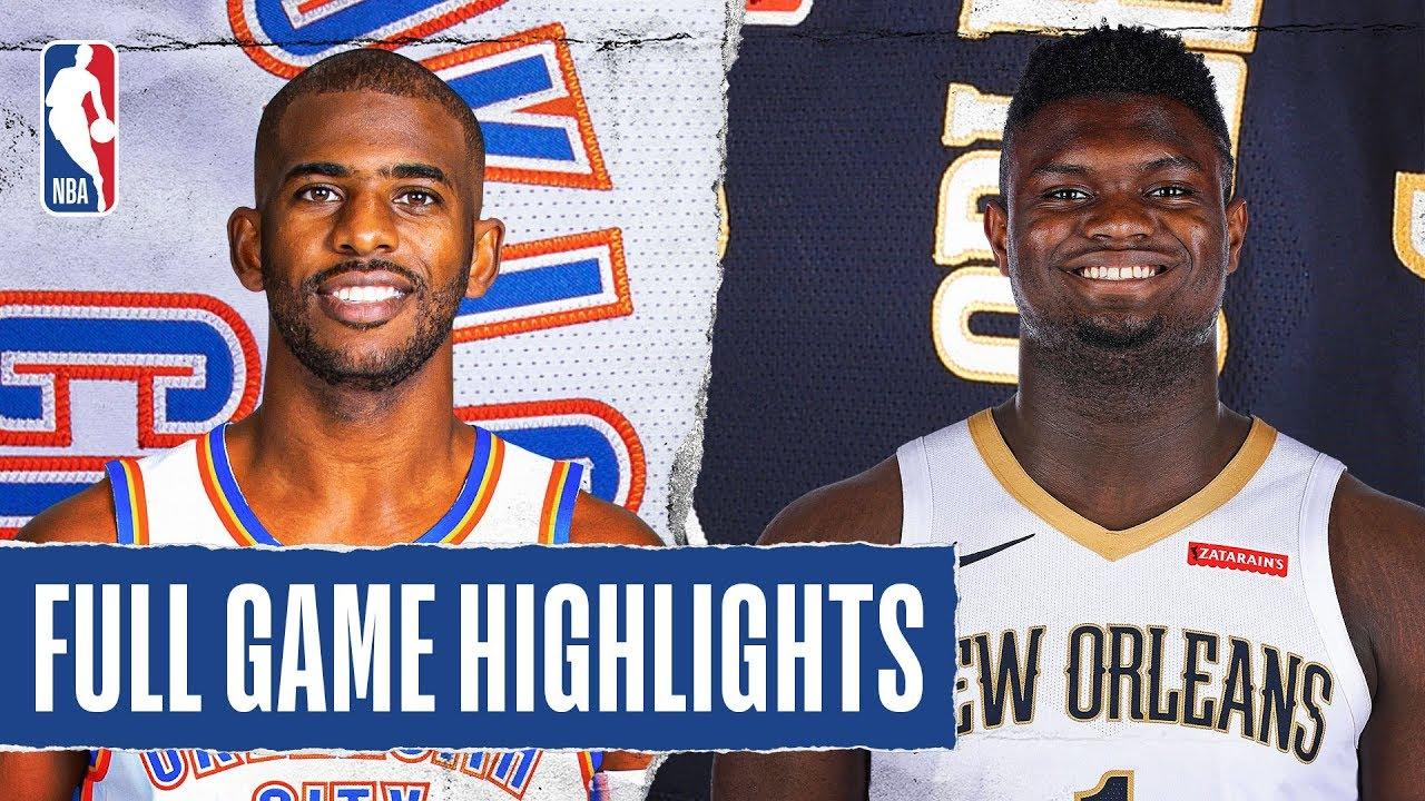 Oklahoma City Thunder vs New Orleans Pelicans [Thu, Feb 13, 2020]