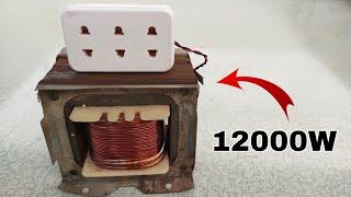 Turn Transformer into 230V 12000W Most Powerful Generator