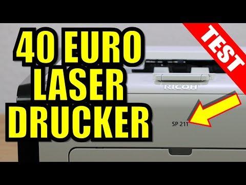Tinte oder Laser - Der 40 Euro Laserdrucker Ricoh SP 211 im Test 2018