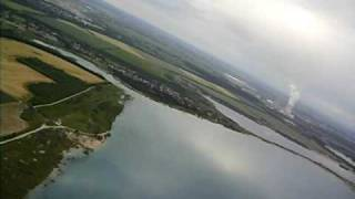 preview picture of video 'Flug über den Hainer See'