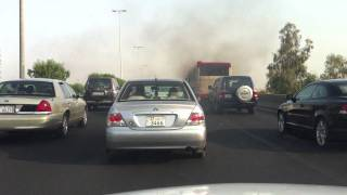 preview picture of video 'Kuwait Bus emitting smoke'