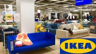 IKEA SOFAS COUCHES FURNITURE HOME DECOR SHOP WITH ME SHOPPING STORE WALK THROUGH 4K