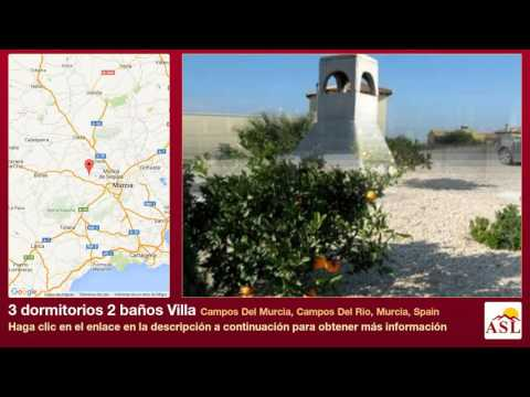 3 dormitorios 2 baños Villa se Vende en Campos Del Murcia, Campos Del Rio, Murcia, Spain