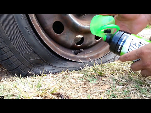 Roadside Flat Tire Fix On The Spot - Quick Spair Inflator Sealer