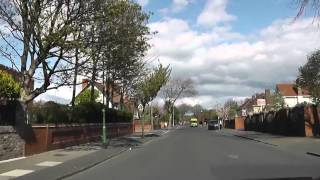 preview picture of video 'Driving Along Hall Road West, Hall Road East, Manor Road & Cooks Road, Waterloo, Liverpool, England'