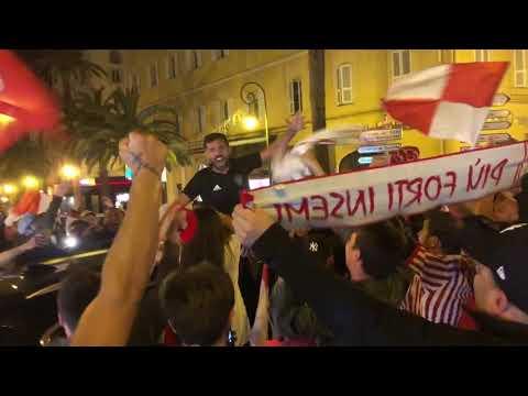 Vidéo. AC Ajaccio - Le Havre : Quand le capitaine Johan Cavalli vient fêter la victoire avec les supporters