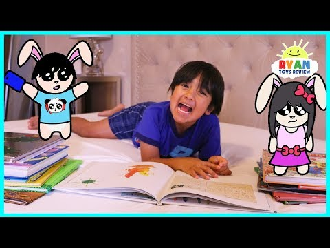Ryan Reading Book Story Time – Kid Night Routine!