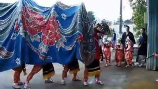砺波市太田の獅子舞2013