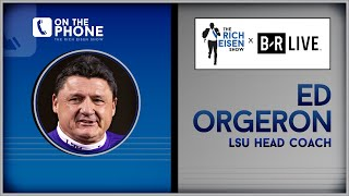 LSU's Ed Orgeron DOES NOT Care What Alabama Thinks of His Post-Game Speech | The Rich Eisen Show