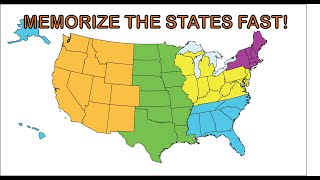 Memorize the 50 states song FAST!  See practice loop video in the description.