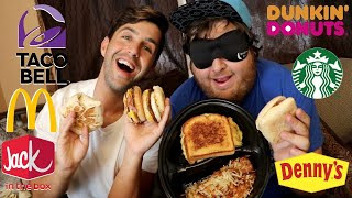 FINAL BLINDFOLD FASTFOOD CHALLENGE! (WHO WINS?)