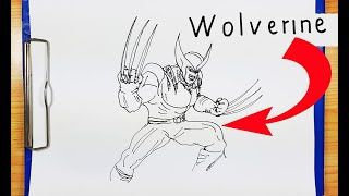 How To Draw WOLVERINE | How to turn words WOLVERINE into Wolverine logan X-MAN marvel comic