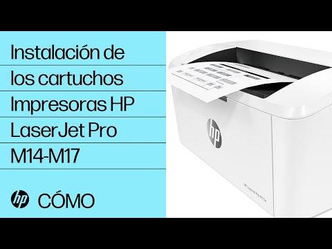 Cómo instalar los cartuchos en las impresoras HP LaserJet Pro M14-M17