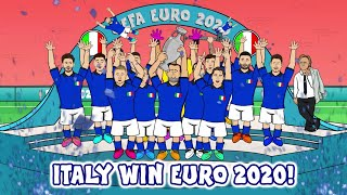 Italy Win Euro 2020!  (Italy vs England Final Penalty Shootout Penalties 3-2 1-1 Highlights)