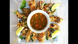 Appetizer Recipe: Coconut Curry Chicken Skewers by Everyday Gourmet with Blakely