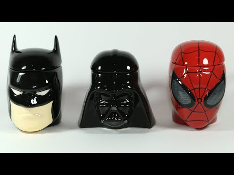 3D Mugs Batman Darth Vader Spiderman Kinder Surprise Eggs