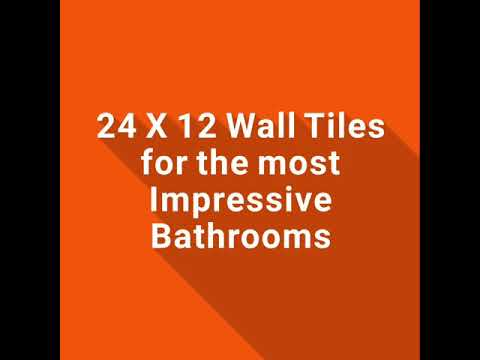 AM - Matt Bathroom Wall Tile - 24in x 12in // 2ft x 1ft // 600mm x 300mm