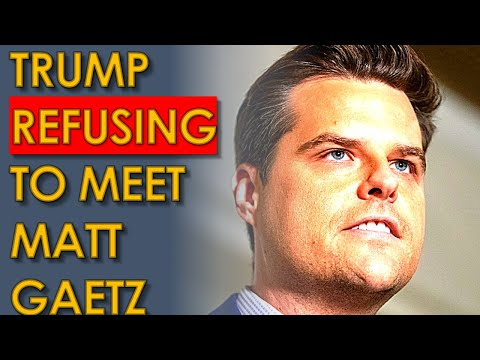 Trump DENIED Matt Gaetz Meeting at Mar-a-Lago because everyone Knows he's TOAST