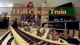 preview picture of video 'LGB Circus Train around Christmas Village'