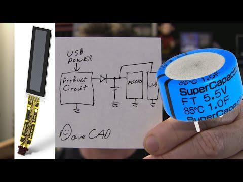 EEVblog #1242 - Memory LCD+Supercaps+Low Power Design